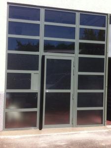 Façade extérieure vitrée aluminium