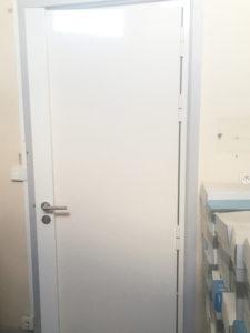 Porte blindée fermée aluminium