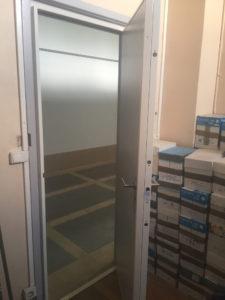Porte blindée ouverte aluminium